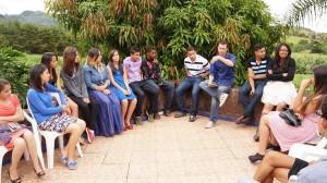 """Momentos de reflexão com o pastor Rogério Sathler.  Adventistas  de Andradas, Poços de Caldas e Dom Bosco estiveram presentes no acampamento """"Unidos na Única Esperança"""", realizado em Andradas."""