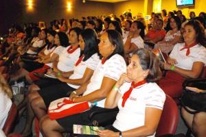 Diretoras e associadas no  primeiro treinamento em Itaboraí.