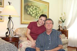 Professor Mário Ritter e esposa Sueli no dia da entrevista.