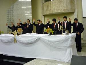 Programação na igreja de São Bernardo terminou com uma cerimônia de santa ceia.